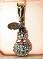 JUICY COUTURE 2011 PAVE LIMITED EDITION SILVER SNOWMAN CHARM