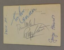 The Beatles Authentic Autographs/ Signed Valex Post Card Ritz Ballroom July 1963
