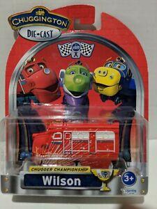 2013 Learning Curve TOMY Chuggington WILSON Blue Die-Cast Train Engine Toy