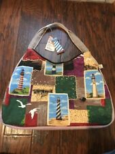 Paul Brent Nautical Lighthouses Seagulls Tote, Beach Bag, Handbag Unique