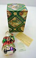Old World Christmas Glass Santa Ornament