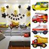 1PC Kids Foil Balloon Fire Truck Cartoon Car School Bus Birthday Party Decors