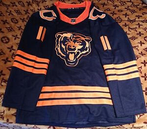 NFL NHL Replica Chicago Bears Hockey Jersey. Size XL(54),name on back CHRIS, #11