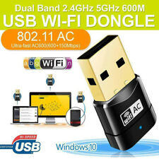 600Mbps 2.4-5ghz USB Dual Band Wireless Adapter WiFi Dongle 802.11 AC Laptop PC.