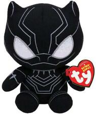 """2018 Ty Beanie Baby Boo's 6"""" Marvel Stuffed Plush Black Panther w/ Ty Heart Tags"""