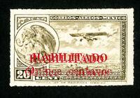 Mexico Stamps # C39b VF OG LH Rare Double Overprint Scott Value $150.00