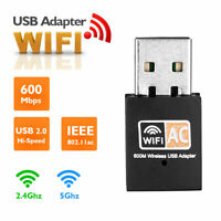 AC 600Mbps WLAN Stick dual band 2.4GHz / 5GHz WIFI Dongle USB Wireless Adapter -