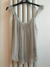 Miss Selfridge Grey Cami Style Top With Sequins And Silver Threads
