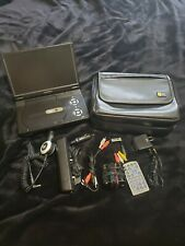 """Audiovox portable Dvd player D2017 with case and accessories. Working 10"""" screen"""