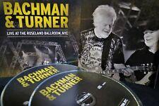 Bachman & Turner 2 CD NEW Live at the Roseland Ballroom,NYC, 20 Tracks Concert
