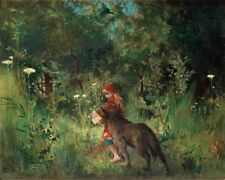 Larsson Little Red Riding Hood Giant Wall Canvas Art Print