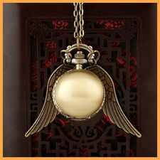 Harry Potter Snitch Watch Necklace Steampunk Quidditch Pocket Clock Pendant D3