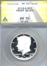 2019-S San Francisco Silver Proof Kennedy Half Dollar ANACS PF 70
