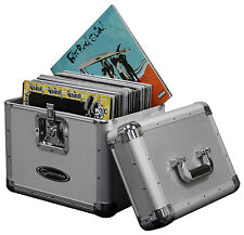 Odyssey KLP1SIL KLP1 SIL Silver Finish Record Travel Case Holds 70 Vinyl LP