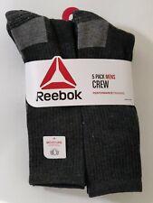 Reebok Men's Sz. 6-12.5 Women's 10-13 Performance Training Gray Crew Socks