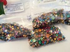 Swarovski Czech Rhinestone Jewellery 300 Mixed size colour gold foiled REPAIR