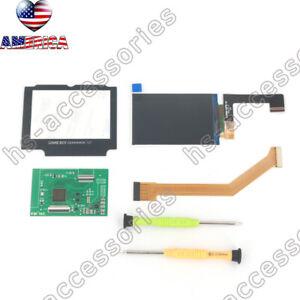 For GBA SP IPS GameBoy Advance SP High Light Backlight Brightness LCD Screen kit