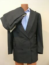 Paul Stuart Men's Double Breasted 100% Wool Gray Suit Sz 44 Long 38 Canada VGUC