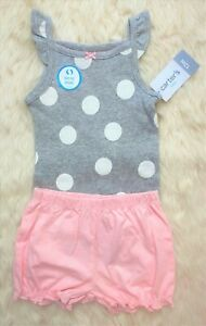 ***NEW*** CARTER'S Infant Baby Girls 2-Piece Short Outfit - Size 12 Mos