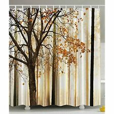 Shower Curtain Fall Trees Print Mom Gift Ideas Polyester Fabric Bathroom