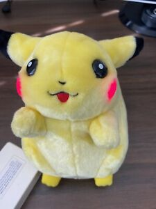1998 Vintage Light Up Talking Plush Pikachu Game Freak Pokemon TESTED and WORKS