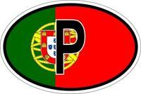 Sticker aufkleber Nationalitätenkennzeichen flagge fahne P portugal