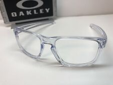 Oakley Sliver Polished Clear 9262-06 Sunglasses Frames W/Chrome Icons 57/18