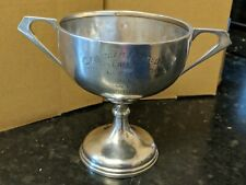 Antique SOLID SILVER RACKET CHAMPIONSHIP 1925 DOUBLE  Trophy Cup14cm hight 220g