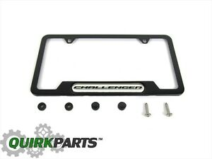08-20 DODGE CHALLENGER MATTE BLACK LICENSE PLATE FRAME & HARDWARE MOPAR GENUINE