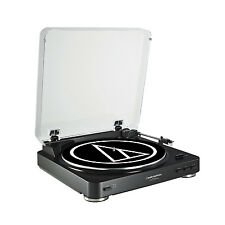Audio Technica Fully Automatic Stereo Record Player Turntable, Black | AT-LP60BK