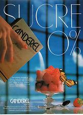 Publicité 1988  Sucre CANDEREL 0%  ASPARTAM