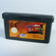 Earthworm Jim 2 para Nintendo GBA GameBoy Advance sólo juego módulo erdwurm
