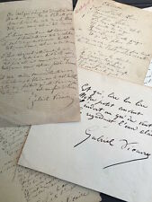 Gabriel VICAIRE  Trois poèmes autographes signés et une lettre autographe