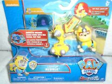 """Nickelodeon Paw Patrol Light UP Rubble with Pup Pack """"NEW"""" Must See"""