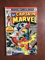 Captain Marvel #51 (1977) 6.0 FN Bronze Age Comic Book Mercurio Avengers App