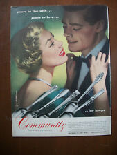 1950 VTG Orig Magazine Ad Community Plate SiIverware See Jewelers Fall Showing