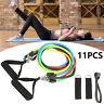 11er Fitnessbänder Resistance Expander Set Tube Gymnastikbänder Yoga Latexband