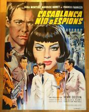 AFFICHE  CINEMA film movie 120x160 CASABLANCA NID D'ESPIONS Sara Montiel Mascii