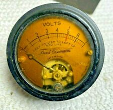 Antique Fred Eisemann Electrical Panel Mount Voltmeter Gauge Jewell Company(A013