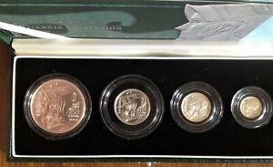 2003 Fine Silver Proof Britannia 4 Coin Collector Set Box COA