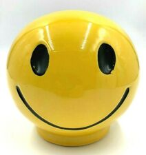 Rare Vintage 1970s Ceramic McCoy Smiley Face Bank
