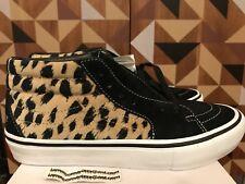 Vans x Supreme SK8-Mid Pro Cheetah Velvet Sz 8 Black White Beige SS17