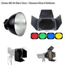 Godox BD-04 Barn Door Honeycomb Grid & Filter + Standard Reflector Bowens UK