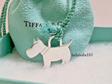 Tiffany & Co. Sterling Silver Scottie Dog Charm 1.30in Pendant  w/ Pouch 20512B