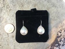 Sterling Silver & Paspaley South Sea Pearl Earring Drop 12 MM New Fashion Teardr