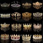 Bridal Princess Rhinestone Pearl Crystal Hair Band Tiara Wedding Crown Headband