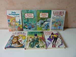 Lot de 7 livres pour enfant bibliothèque rose