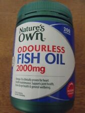 Nature's Own ODOURLESS FISH OIL 2000mg DOUBLE STRENGTH 200 Capsules - FREE SHIP