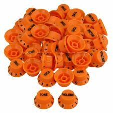 20 Piecs Orange 1V2T Electric Guitar Bell Hat Knobs with Black Numbers