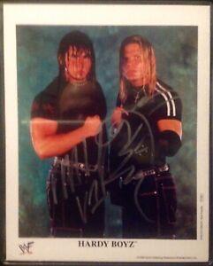 WWE Tag Team Jeff & Matt The Hardy Boyz Autographed 8x10 Photo With COA